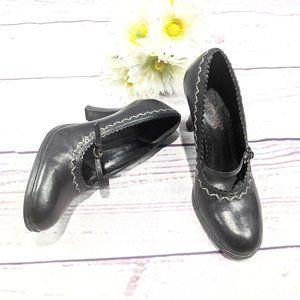 Franco Sarto Black Mary Jane Heels SZ 5.5 M